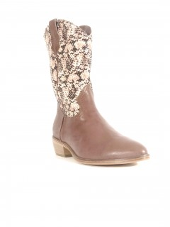 STIVALE TEXANO TAUPE-PINK SNAKE TAUPE-PINK SNAKE